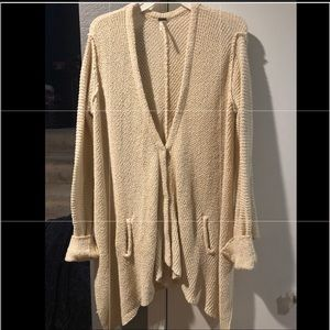 Cardigan M Free People long snap front cream